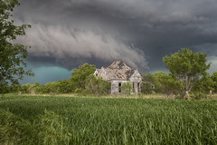 """Texas Chainsaw"" (Ryan Wunsch) Tags: texas abandoned creepy thunderstorm tornado hail"