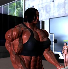 Me working out (Ms Soul) Tags: muscle muscular muscularwoman bodybuilder