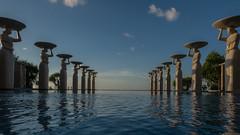 One very fine day-1 (MyEyeSoul) Tags: pool infinitypool horizon blue hotel resort statues swimming bali nusadua sun cloud canon powershot indonesia holiday tourism travel luxury