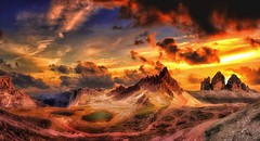 Mordor (Gio_guarda_le_stelle) Tags: jrrtolkien mordor lordoftherings lotr dolomites dolomiten dolomiti artwork photoshop threepeaks trecime elettra finardi osaka landscape