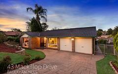 43 Mackillop Drive, Baulkham Hills NSW
