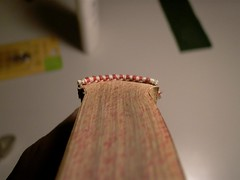 Bookbinding: Handwound Headband (Stick-On) (thegreatexperimentalaccount) Tags: headband book bookbinding bookart books binding bindery