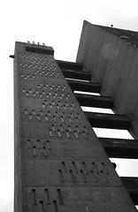 Urban walk 20 May 2017: Lewisham to Mile End 75 (neil mp) Tags: london towerhamlets poplar e14 balfrontower balfron ernőgoldfinger goldfinger modernism brutalism c20soc twentiethcenturysociety brownfieldestate harca londonewcastle blackwalltunnelapproach stleonardsroad andrewstreet blackandwhite bnw monochrome architecture servicetower liftshaft concrete