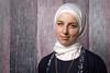 How She Feels About Trump (Geoff Livingston) Tags: hijab woman eyes portrait headdress washington dc chain