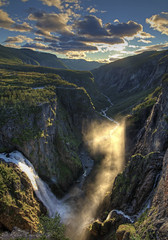 Måbødalen and Vøringsfossen (Roar Bævre Photography) Tags: norway 2014 norge summer hdr waterfall valley sunset