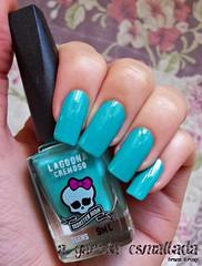 Esmalte Lagoona, da Monster High (Biotropic). (A Garota Esmaltada) Tags: agarotaesmaltada unhas esmaltes nails nailpolish manicure azul blue turquesa lagoona monsterhigh biotropic turquoise