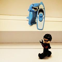 Surfer and Nightwing (Letgoofmylego) Tags: nightwing dccomics minifigures shark lego