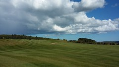 Kintore Golf Course, Kintore, Aberdeenshire, May 2017 (allanmaciver) Tags: kintore golf course aberdeenshire north east green keeper style class bunker sand clouds loom large rain escape dark light contrast sky afternoon walk allanmaciver