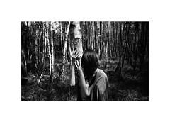 out of the woods (Marek Pupák) Tags: slovakia kodak trix leica rangefinder film analog wood hands poetic woman portrait blackandwhite bw