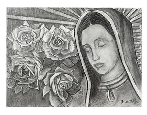 Autor: JORGE EDUARDO OLVERA MARTINEZ, Cuarta Aparición  65x50 cm