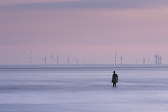 Another Place (Simon Wootton) Tags: seascape sculpture sea water statue sunset anthonygormley beach art installation