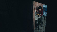 Me. (- Directora de fotografía -) Tags: portrait retrato girl woman soledad art personal sombras autoretrato blue clavebaja fotografíasdenoche flickr contrastes noche shadows