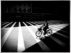 Namba crossing. (4) (Mark Fearnley Photography) Tags: tokyo japan bicycle bike blackwhite monochrome bw bnwart art bnw