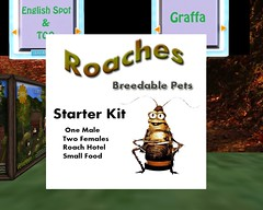 Breedable Pet Roaches Starter Kit.. O..o (ReignShadow) Tags: firestorm secondlife breedable pet roach