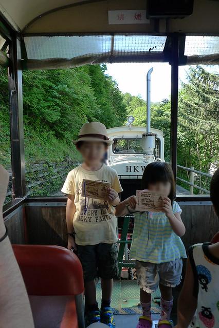森林鉄道の記念にもらえる ヒノキ材で作られた大きなキップ|赤沢森林資料館