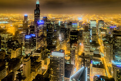I could see for miles (tquist24) Tags: aoncenter chicago hdr illinois nikon nikond5300 willistower architecture building buildings city clouds geotagged lights longexposure night sky skyscraper skyscrapers unitedstates
