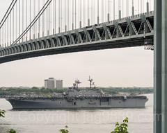 2017 Fleet Week - USS Kearsarge (LHD 3) Amphibious Assault Vessel passing the Verrazano-Narrows Bridge, New York City (jag9889) Tags: 2017 2017fleetweek 2017fleetweeknewyork 20170524 boat brooklyn celebration fleetweek forthamilton fortwadsworth k200 kingscounty ny nyc newyork newyorkcity outdoor parade paradeofships richmondcounty river seaservices ship southbrooklyn statenisland thenarrows uscoastguard usmarines usnavy usa unitedstates unitedstatesofamerica uppernewyorkbay verrazanonarrowsbridge vessel warship water waterway jag9889