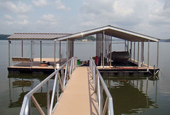 Single Slip, Gable Roof Docks