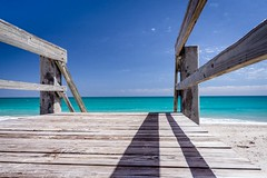 The beckoning beach (FotoFloridian) Tags: sea beach summer blue vacations nature sky coastline sand outdoors water scenics idyllic travel landscape sony alpha a6000 ocean aqua wood boardwalk