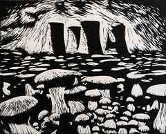 The Kingdom Of Mushrooms (Federici Luca) Tags: linocut linoprint engraving linogravure printmaking nuke radioactive radiation postapocalyptic postnuke lostworld postapocalypse postnuclearwar postnuclear fallout