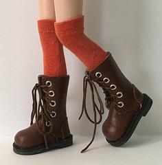 Pumpkin Spice...Tall Socks For Blythe...
