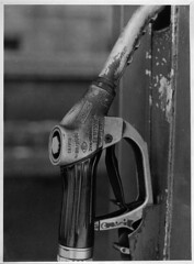 Old dispenser (Moryc Welt) Tags: print diy chinoncxii oreston50 helios krokus enlarger iscanforlinux gimp ilfordpan100 asa100 id68 homemadesoup bytom poland europe silesia fotonbrom darkroomprint