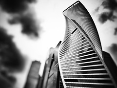 #Moscow City black and white variation (NO PHOTOGRAPHER) Tags: hochhaus gebäude cityscape skyline detail blackandwhite monochrome building outdoor architecture iphoneography iphonephotography exterier urban blue skycraper iphone 6s москва россия архитектура строительство река мост