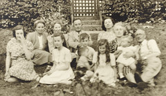 W.D Hogan and friends at the Keany's house, Westbrook, Dundrum (National Library of Ireland on The Commons) Tags: hoganwilsoncollection wdhogan nationallibraryofireland westbrook leinster familygroup garden dundrum codublin dublin keany keanys house