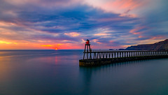 whitby sunrise (Anthony White) Tags: whitby england unitedkingdom gb scarboroughdistrict longexposure seascape ocean northyorkshire cloudscape clouds