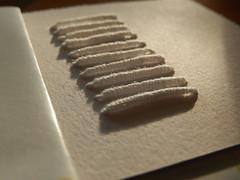 That's a wrap ... (Landanna) Tags: video bullionknot embroidery embroideryonpaper broderi broderipåpapir borduren bordurenoppapier handmade handgemaakt paperart paperwork
