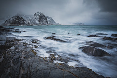 Stormy Lofoten islands (martinzorn) Tags: norway norge norwegen snow landscape winter cold travel europe lofoten