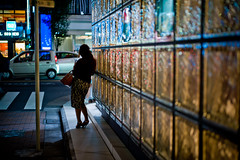 L1004703 (Camera Freak) Tags: 170615ginza ginza tokyo japan leica m10 night neon evening girl people street glass lace