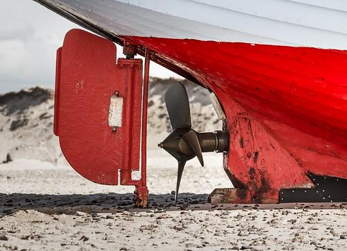 nørrevorupør rudder propeller sacrificialanode maagen fishingvessel beaching