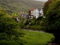 Houses Overlooking River Dee View From The Road Bridge Carrog June 2017 (mrd1xjr) Tags: houses overlooking river dee view from the road bridge carrog june 2017