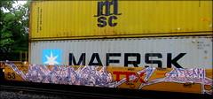 (timetomakethepasta) Tags: amaze ateam guilty dopes kash la freight train graffiti art intermodal benching selkirk new york photography maersk ttx