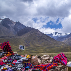 Peruvian colors (druzi) Tags: peru color colors colour colours colore colori peruvian peruviano fabric textile landscape mountain clouds cloudy