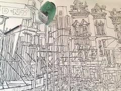 King St, Newtown. (Peter Rush - drawings) Tags: peterrush drawing sketch australia nsw sydney kingst newtown