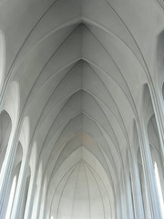 reykjavik pastel (kexi) Tags: iceland europe reykjavik architecture church interior vertical samsung wb690 may 2016 pastel lines curves white symmetry instantfave perspective tranquility hallgrimskirkja