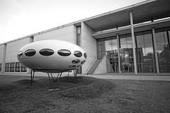 Futuro House (jo.schz) Tags: bw germany architecture pinnakothek 1968 futuro museum munich house moderne ufo mattisuuronen finnland