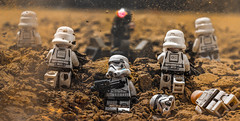 Rush the Turret! (300 Followers!) (Lego_LUTs) Tags: green yellow blue storm trooper star wars war lego outdoors clone troopers first order blasters afol minifigs minifigures bricks blocks canon toy toys force legos t3i republic people photoadd atst death rogue one dirt practical effects orange arc