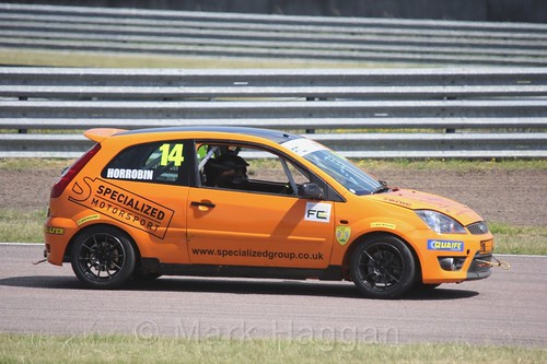 Simon Horrobin in the Fiesta championship Class C at Rockingham, June 2017