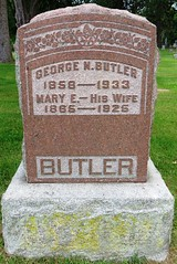 Butler, George N.  1858 - 1933 (Hear and Their) Tags: grave marker stone gravestone tomb tombstone greenhill cemetery kingsville fraternal masonic oddfellow