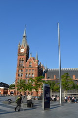 Travelling Facade (dhcomet) Tags: london st pancras international station train railway victorian gothic