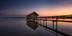 Germany - Ammersee (Toon E) Tags: 2017 germany bavaria ammersee stegen jetty pier lake sunset reflection sony 7rm2 zeiss sonyfe1635mmf4