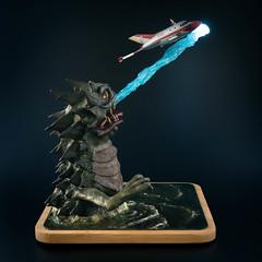Radioactive Monster Bemular (Will Vale) Tags: atomicmonster bandai sculpting scifi scalemodel ultraman sculpey bust kaiju vtol bemular sciencepatrol