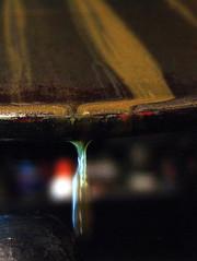 Press, Gold Ink and Typewash (Arie Koelewyn) Tags: macromondays dripsdropsandsplashes