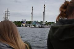 Mysterious Gröna Lund (lucasual) Tags: stockholm grönalund themepark freefall rollercoaster sky clouds grey water river boat girls hair funfair
