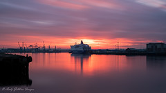 River Tyne Sunset (Andy Gibbins Images) Tags: longexposure sunset wow colours river rivertyne northeastuk staithes milldam southshields dfds ferry outdoor nikon d5500 tokina tokinauk 10stop