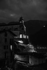 Le due chiese (drugodragodiego) Tags: bagolino valledelcaffaro vallesabbia provincidibrescia lombardia italy blackandwhite blackwhite bw biancoenero church chiesa notturno