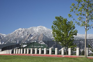 Flatirons Spring Snow from Pleasant View Fields